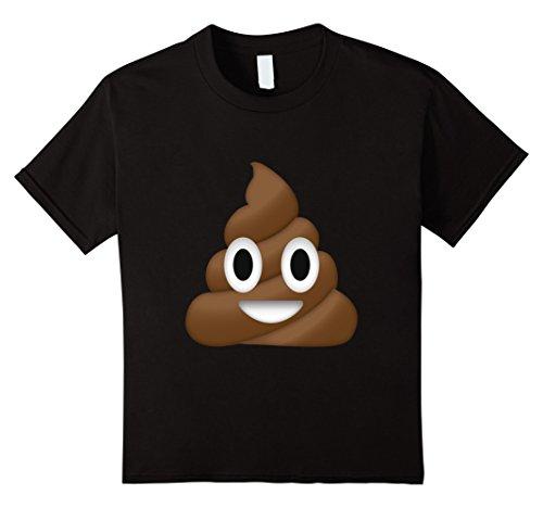 Kids Emoji Poop T Shirt Novelty Funny for Men Women Kids 8 Black