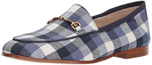 Sam Edelman Women's Loraine Loafer Navy Multi Gingham 8 M US (Loafers Blue)