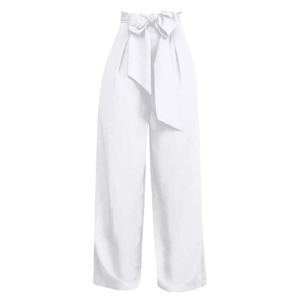 Mujer Parval Palazzo Pantalon Ancho Para Mujer Pantalon Holgado Con Cordones De Talle Alto Ayuda Alta Pantalones Casuales Pantalones Rectos Y Correas Moda Diseno Elegante Streetwear Ropa Bersandra Pt