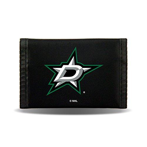 Rico NHL Dallas Stars Nylon Trifold Wallet (Purse Stars Jersey Dallas)