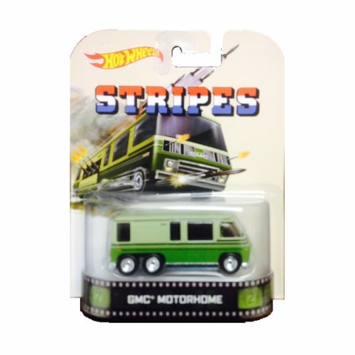 - Hot Wheels Stripes GMC Motorhome Die-Cast Retro Entertainment Series