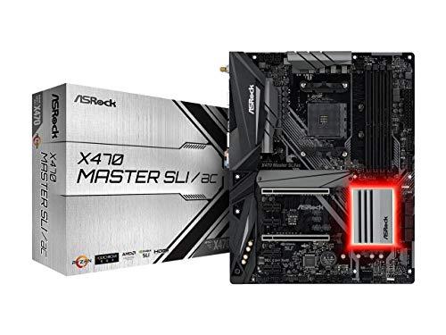 (ASRock X470 Master SLI/AC AM4 AMD Promontory X470 SATA 6Gb/s USB 3.1 HDMI ATX AMD Motherboard)