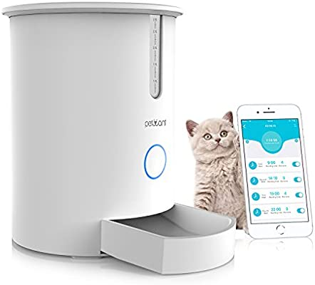 Petwant Alimentador Automático de gato, el smart pet alimentador ...
