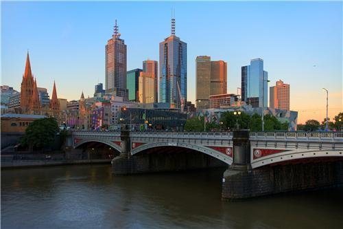 Melbourne Skyline Glossy Poster Picture Photo australia victoria yarra cool