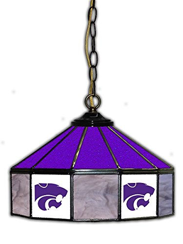 Official Licensed NCAA UNIVERSITY OF KANSAS STATE 14'' Glass Pub Lamp by Imperial International by Imperial