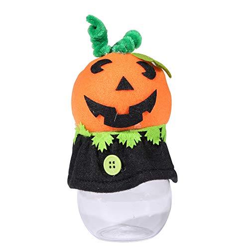 yanbirdfx Halloween Pumpkin Cat Party Hotel Candy Can Cookie Jar Transparent Decor Gift -