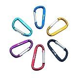 Dreamyth New Outdoor Camping Carabiner Water Bottle Hook Hang Buckle Key Ring with Lock (Random)