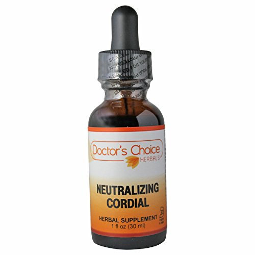 Doctor's Choice Neutralizing Cordial Liquid Herbal Supplement with Turkey Rhubarb Root, Cinnamon, Goldenseal, Potassium Bicarbonate, and Peppermint Oil, 30ml, Kosher – PREMIUM QUALITY – Glass - Neutralizing Glasses
