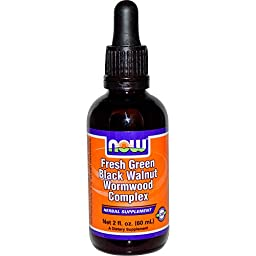 NOW Foods - Green Bla. Walnut Wormwood Cmp 2 fl oz (Pack of 2)