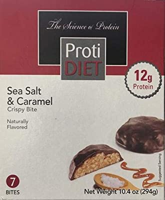 Proti Diet Sea Salt & Caramel Crispy Bite - 7 Servings -12g Protein -180 Calories
