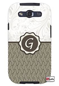 Monogram Initial Letter G Unique Quality Hard Snap On Case for Samsung Galaxy S4 I9500 - White Case