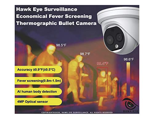 Hawkeye Temperature Screening Thermographic Turret Cameras - Compatible with Hikvision DS-2TD1217B-3/PA Temperature Screening Series (Thermographic Turret)