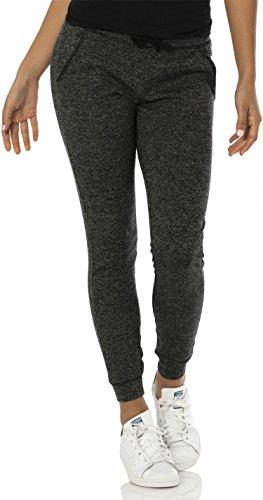 VBRANDED Women's Lightweight Fitted Skinny Joggers Sweatpants Black M - Low Rise Sweatpants