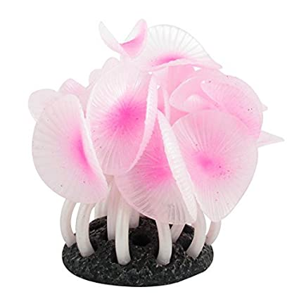 Amazon.com : Acuario acuático Coral emulational hoja DE 20 cm Ancho luz de Color rosa : Pet Supplies