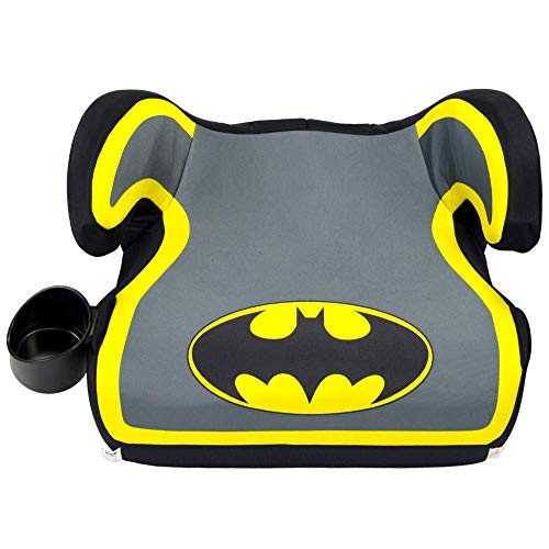 KidsEmbrace Batman Booster Car Seat, DC Comics Youth Backless Seat, Yellow