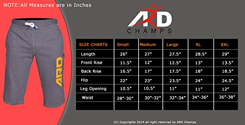 2a1fb3d922d7 Mens Cotton Fleece Shorts Jogging Casual Home Wear MMA Boxing(S-2XL) - Buy  Online in UAE.