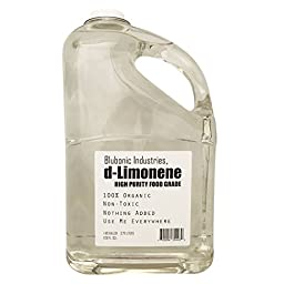Blubonic Industries 100% d-Limonene HIGH PURITY Food Grade Solvent Medicinal Cleaner Degreaser 1 Gallon