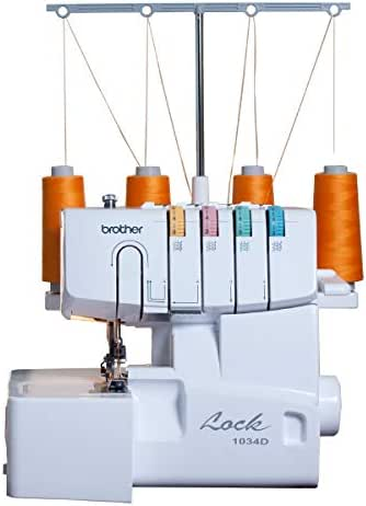 Brother 1034D 3/4 Thread Serger with Differential Feed, White