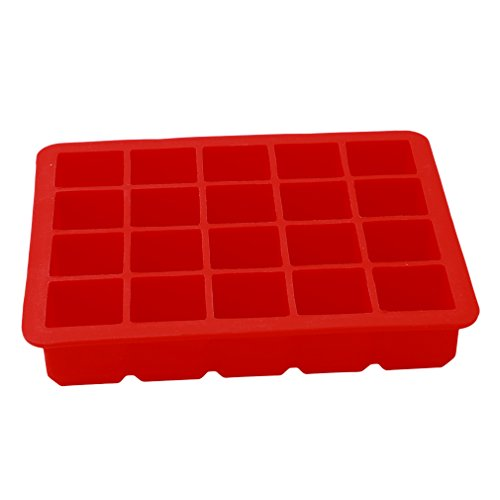 TraveT 20 Cavities Large Ice Cube Tray Pudding Jelly Maker Mold Square Mould Silicone ()