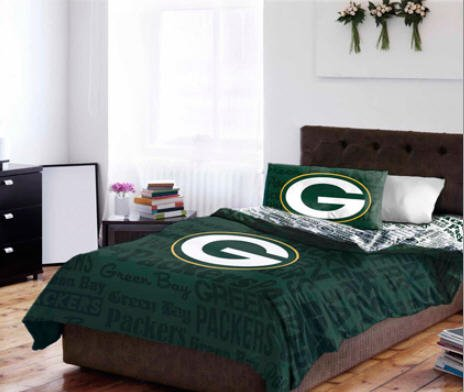 Green Bay Packers Queen Comforter & Sheets (5 Piece NFL Bedding) by NFL