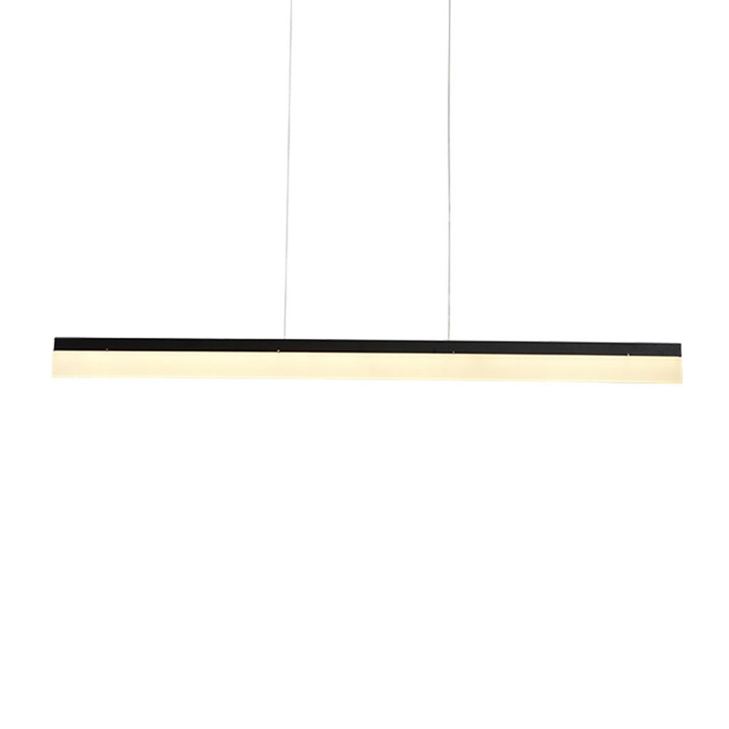 Modern pendant light LED Pendelleuchte Restaurant Decke Kronleuchter Moderne Streifen Studio Office Wohnzimmer Beleuchtung Haushalts Kronleuchter (Farbe   Stufenloses Dimmen-80cm)