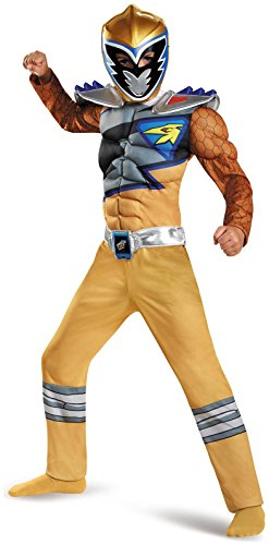 Power Rangers Dino Charge Gold Ranger Deluxe Muscle Child Costume