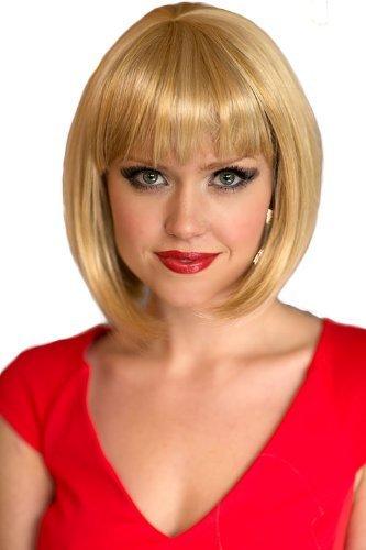Annabelle rubia Light pelucas blando de colour negro Golden/invertida transición Bob peluca: Isabelle