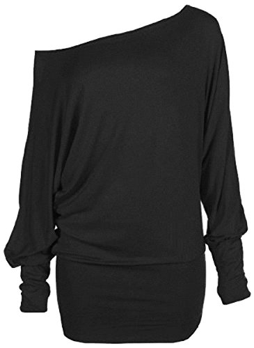Crazy Girls Women's Batwing Sleeve Off Shoulder Top. Ideal for Flashdance Costume
