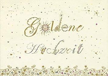 Decoart 1 Glückwunschkarte Goldene Hochzeit Sonne Sterne