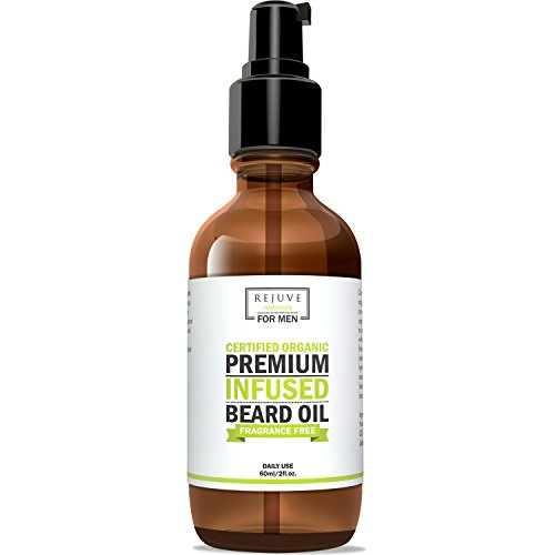 Certified Organic Beard Oil with Argan, Jojoba