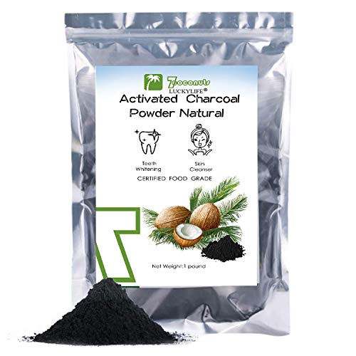 (1 pound) Activated Charcoal Powder 16OZ Organic Coconut Charcoal Toothpaste Teeth Whitening Facial Masks Detoxing Food Grade
