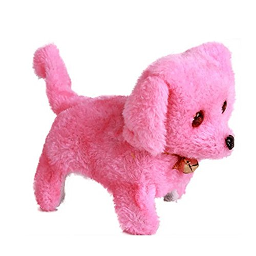 - Baby Plush Toy Dog Doll Cute Electric Pets Toy Stuffed Plush Dog Realistic Dancing&Walking Actions with Voice Lovely Baby Kids Gift