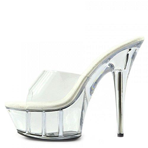 Kick Footwear Womens Charmaine Clear Perspex High Heels Fashion Platform Pole Dancing Shoes Clear wU8nRdofx