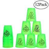 Bestie-Gear Quick Stacks Cups, Sports Stacking Cups Speed Training Set of 12 with Carry Bag