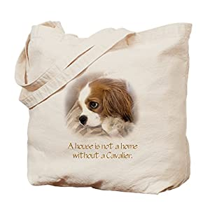CafePress Cavalier King Charles Spaniel Natural Canvas Tote Bag, Reusable Shopping Bag 32