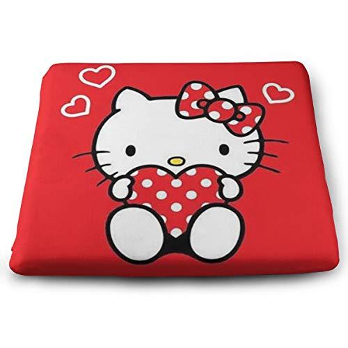 Memory Foam Seat Cushion/Chair Pad - Hello Kitty Red Love Portable Chair Cushion for The Car Or Office Chair (Hello Kitty Office Chair)