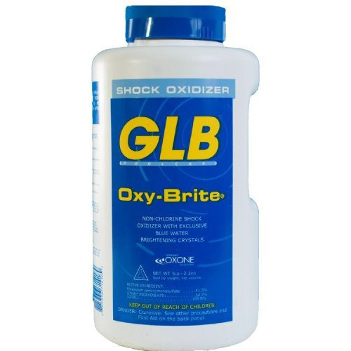 GLB 71418A Oxy-Brite Non-Chlorine Shock Oxidizer, 5-Pound by GLB Pool & Spa Products