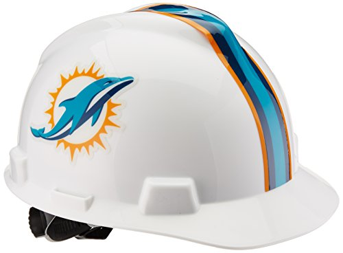 NFL Hard Hat, Miami Dolphins, Green/White 1
