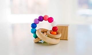 Rainbow Saturn Ring Baby Teether + Rattle