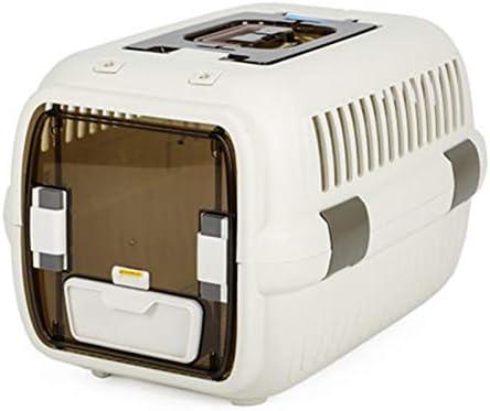 ZUOZUOZUO Cat Air Box Outing Portable Cat Pack Aviones De Control Jaula De Gato Coche De Viaje Caja De Transporte Espacio para Mascotas Caja Blanca 60X41X38 Cm: Amazon.es: Productos para mascotas