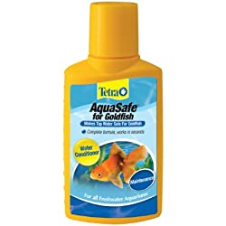TetraAqua AquaSafe Water Conditioner for Goldfish, 3.38-Ounce, 100-Ml