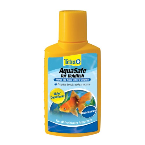 Tetra 16284 AquaSafe Water Conditioner for Goldfish, 3.38-Ounce, 100-Ml (Goldfish Kit)