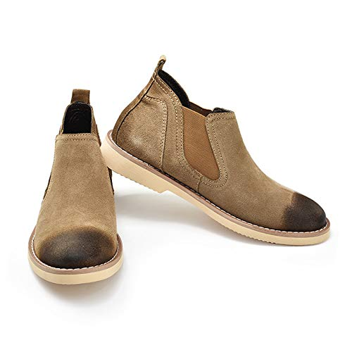 Botas Hombre Restauración Chelsea EU tamaño para Caqui Caqui Zapatos Jusheng Top Trabajo 43 Formas British Classic de Antiguas Casual Mid Color tzdqHn5wH