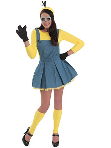 Princess Paradise Women's Minions Deluxe Costume Jumper, As Shown, Medium