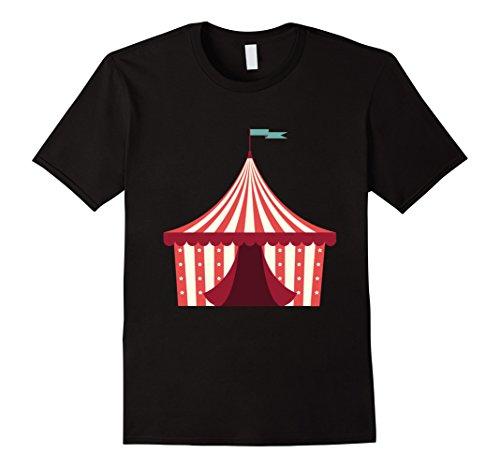 Mens Open Circus Tent Emoji Shirt Carnival Is Open Clown Shirts Medium Black