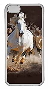 Shell Case for iphone 5C with Horse DIY Fashion PC Transparent Hard Skin Case for iphone 5C