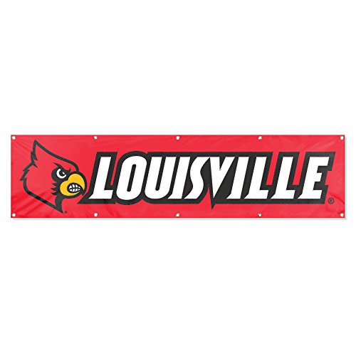 Bears Ncaa Wall Clock - Party Animal Louisville Cardinals 8'x2' NCAA College Banner