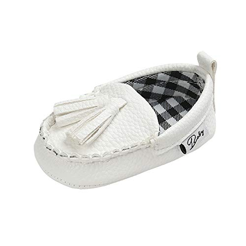 YunqiGL Infant Toddler Baby Boys Girls Loafer Premium Soft Sole Tassel Moccasinss Crib Shoes