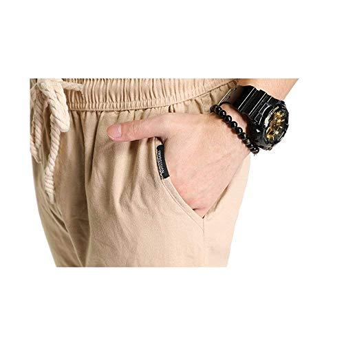 Con Casuales Kaki Pantalones Cómodo Para Bolsillos Color Battercake Sólido De Chándal Primavera Otoño Hombres nzaUwdxUO