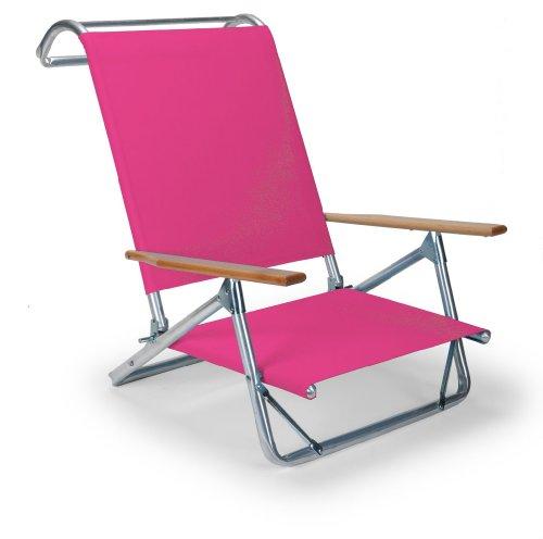 - Telescope Casual Original Mini-Sun Chaise Folding Beach Arm Chair, Pink